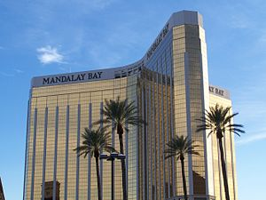 Mass shootings in the United States - Mandalay Bay hotel in Las Vegas, site of the 2017 Las Vegas shooting, resulting in 59deaths and 546 non-fatal injuries.