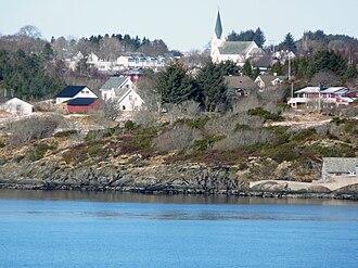 Radøy - View of the village of Manger