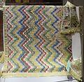 Manifattura toscana, tendina in canapa ricamata di seta, xviii secolo.jpg