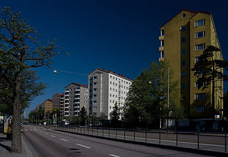 Laakso - Olympic village buildings by Mannerheimintie.