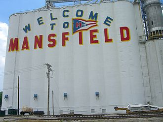 Mansfield, Ohio - Welcome sign on Ohio Route 13