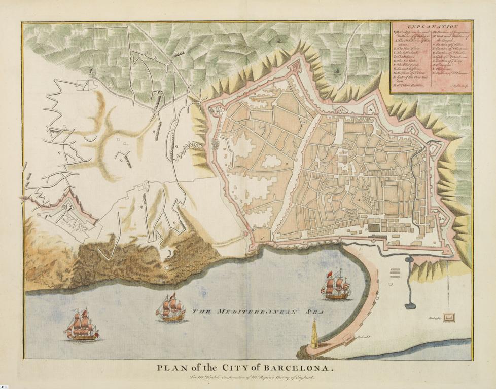 Carte Eixample Barcelone.Anciennes Cartes Geographiques De Barcelone Et Maquette Actuelle
