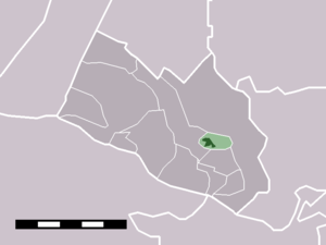 Achterberg - Image: Map NL Rhenen Achterberg
