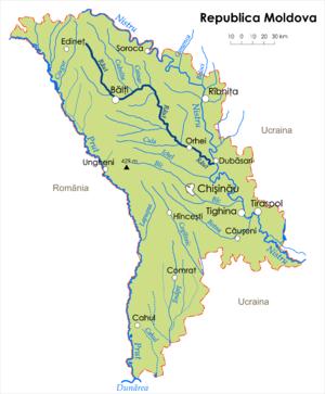 Răut River - Image: Map Raut