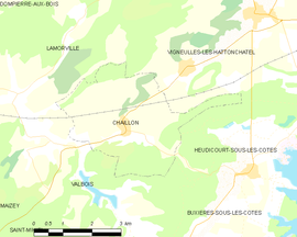 Mapa obce Chaillon