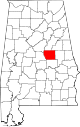 Map of Alabama highlighting Coosa County.svg