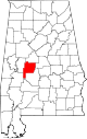 Map of Alabama highlighting Perry County.svg