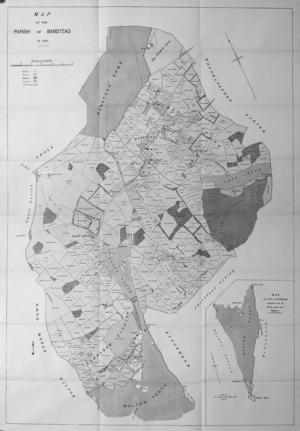 Banstead - Image: Map of Banstead 1841 Lambert