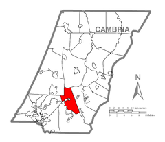 Map of Croyle Township, Cambria County, Pennsylvania Highlighted.png