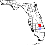 State map highlighting Okeechobee County