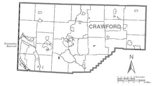 Geneva, Pennsylvania - Image: Map of Geneva, Crawford County, Pennsylvania Highlighted
