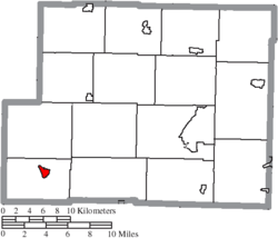 Location of Freeport in Harrison County