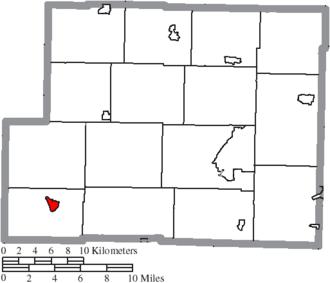 Freeport, Ohio - Image: Map of Harrison County Ohio Highlighting Freeport Village