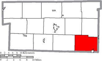 Clark Township, Holmes County, Ohio - Image: Map of Holmes County Ohio Highlighting Clark Township