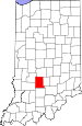 Map of Indiana highlighting Monroe County.svg
