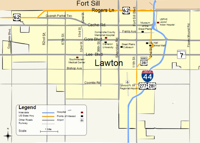 Map of Lawton Map of Lawton OK.png
