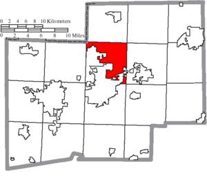 Plain Township, Stark County, Ohio - Image: Map of Stark County Ohio Highlighting Plain Township