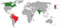 Mapa de los países ganadores de Miss Tierra hasta 2014.png