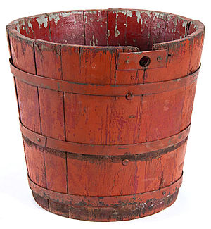 Maple syrup - A bucket used to collect sap, built circa 1820