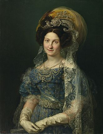 Maria Christina of the Two Sicilies - Portrait by Vicente López y Portaña, 1830