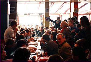 Café philosophique - Image: Marc Sautet at Cafe des Phares (Paris 1994)