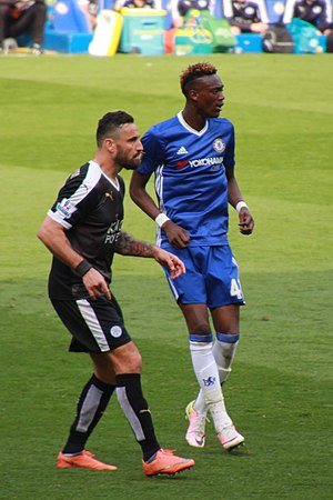 Tammy Abraham - Abraham (right) playing for Chelsea in 2016