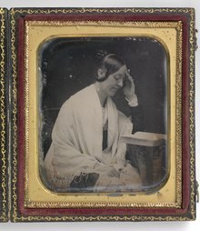 The only known daguerreotype of Margaret Fuller (by John Plumbe, 1846)
