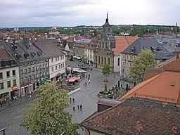 Torvet i det centrale Bayreuth