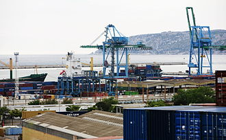Marseille-Fos Port - Container ship in the east basin (Marseille)