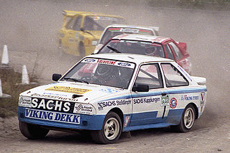 Lydden Hill Race Circuit - Martin Schanche (N) and his Ford Escort XR3 T16 4 x 4, Lydden 1984