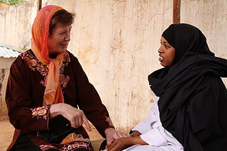 Mary Robinson - Robinson in Somalia, 2011.
