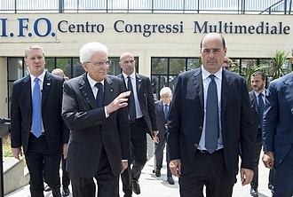 Nicola Zingaretti - Zingaretti with President Sergio Mattarella in Rome, 2017