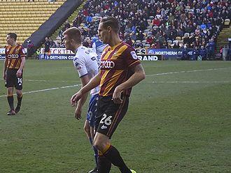 Matthew Kilgallon - Kilgallon playing for Bradford City in 2016