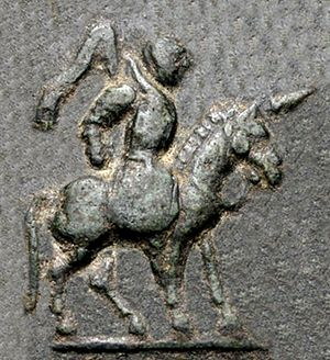 Maues - Image: Maues on horse detail