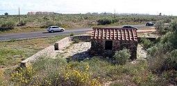 Emplazamiento de la estructura junto a la carretera Ayamonte-Punta del Moral.
