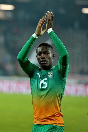 Max Gradel - Gradel playing for Côte d'Ivoire in 2012.