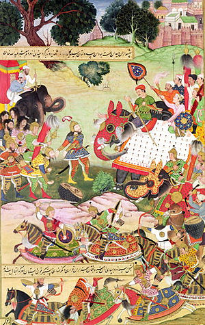 Khosrow I - Artwork of Khosrow's war with the Mazdakites.