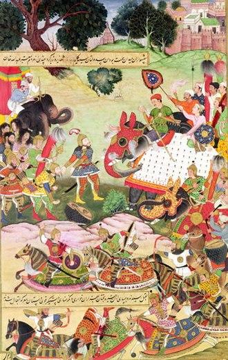 Khosrow I - Artwork of Khosrow's war with the Mazdakites.