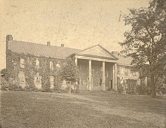 "McMillan Hall - The ""Old College"" in 1899, still in its original location."