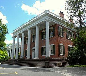 Drew University - Mead Hall was purchased by Daniel Drew in 1867, who donated it to start a Methodist theological seminary.