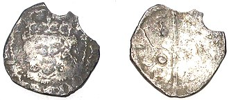 Penny - A worn medieval penny, probably dating from the reigns of Henry VI–VII, AD 1413–1461