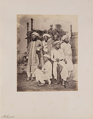 Memon people -  Memon Men   Photographs of Western India Series 1855-1862