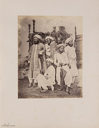 Memon people - Memon men, from Photographs of Western India Series 1855-1862