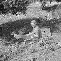 Mejuffrouw FC Prager, chief nurse van het UNWRA, bij een pick-nick, Bestanddeelnr 255-6538.jpg