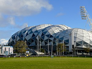 Das Melbourne Rectangular Stadium in Melbourne
