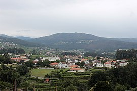 The view of the town of Melgaço within the valleys of the Minho River
