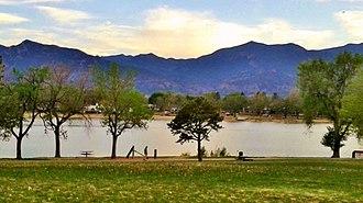 Memorial Park, Colorado Springs - Image: Memorial Park, Colorado Springs Prospect Lake