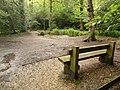 Merley, bench in Delph Woods - geograph.org.uk - 1417764.jpg
