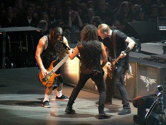 Metallica on stage