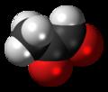 Methylglyoxal molecule spacefill.png